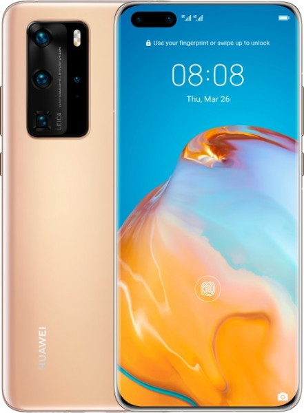 """Huawei P40 Pro DualSim blush gold 256GB 5G LTE Android 6,58"""" OLED 50 Megapixel"""