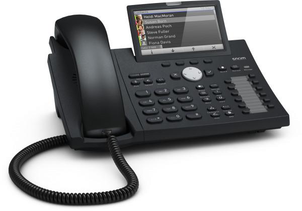 """snom D375 schwarz VoIP-Telefon schnurgebunden 4,3"""" Farbdisplay 1xUSB 2xEthernet"""