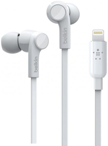 Belkin Rockstar In-Ear Kopfhörer mit Lightning Anschluss weiß für Apple iPhone