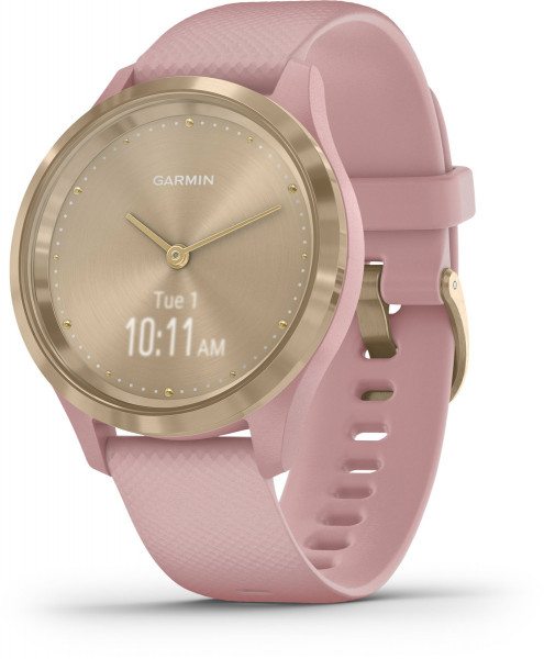 Garmin vivomove 3S Weiss Rosa Gold iOS Android Smartwatch Sport Fitness Tracker