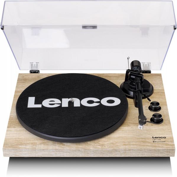 Lenco LBT-188 Bluetooth Plattenspieler mit USB Kiefer