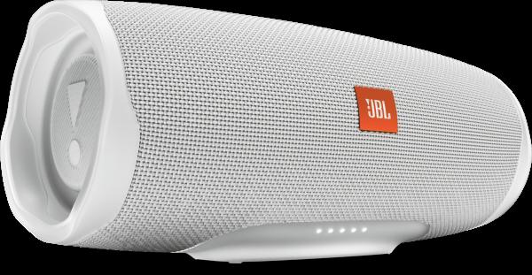 JBL Charge 4 Bluetooth Lautsprecher weiß Bass Boost wasserfest 20h Laufzeit