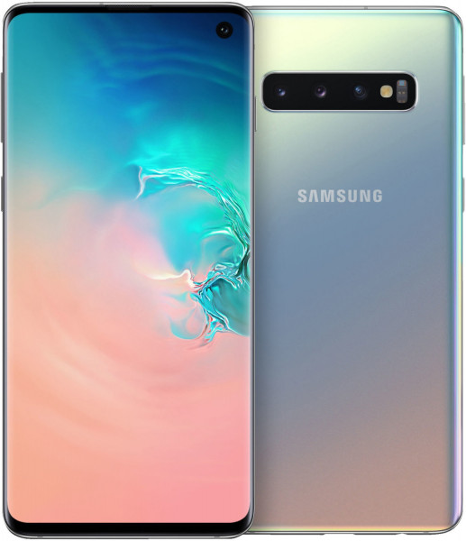"""Samsung G973F Galaxy S10 DualSim silber 128GB LTE Android Smartphone 6,1"""" 16 MPX"""