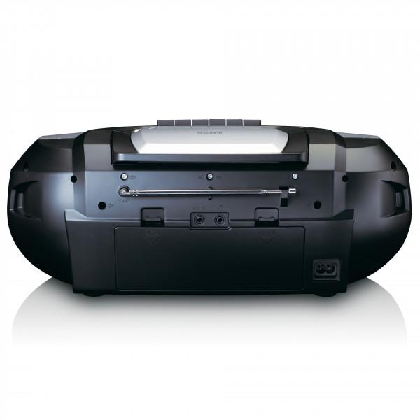 LENCO Boombox FM, CD, Kassette, USB, BT, RC