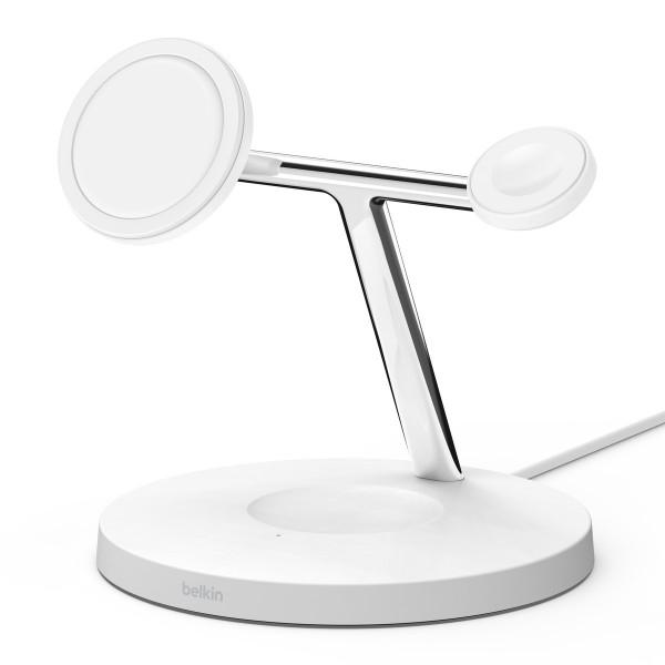 Belkin MagSafe wireless 3-in-1 Ladegerät weiß iPhone & Apple Watch & Airpods