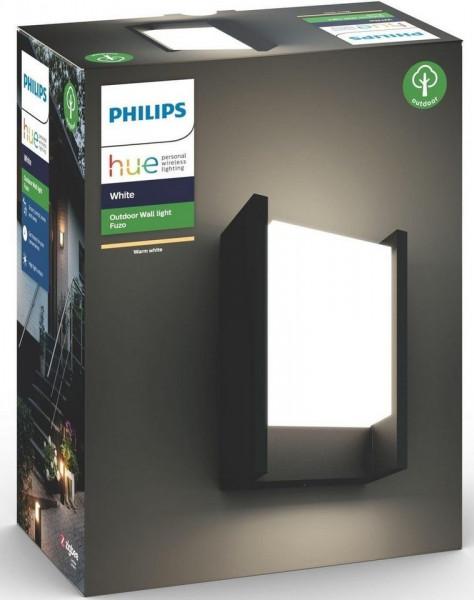 Philips HUE Fuzo LED Wandleuchte, länglich, schwarz