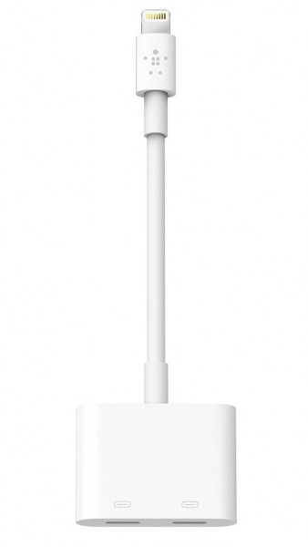 Belkin RockStar Lightning Audio & 12W Ladeadapter weiß Apple iPhone iPad