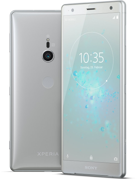 """Sony Xperia XZ2 DualSim silber 64GB LTE Android Smartphone 5,7"""" Display 19MPX"""