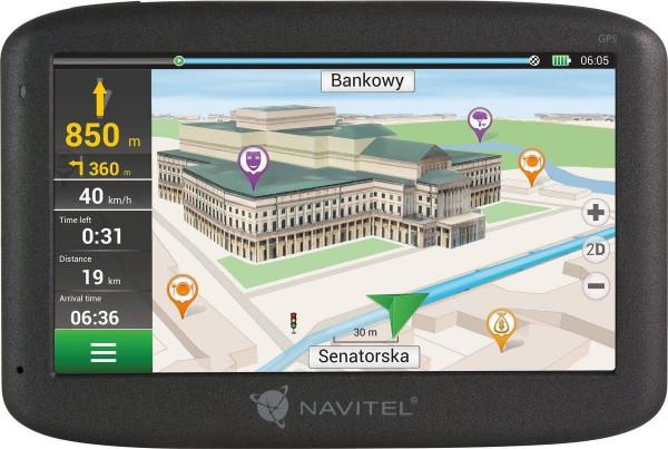 Navitel E500 Navigationsgerät 5 Zoll 8GB Blitzerwarner Points of Interest