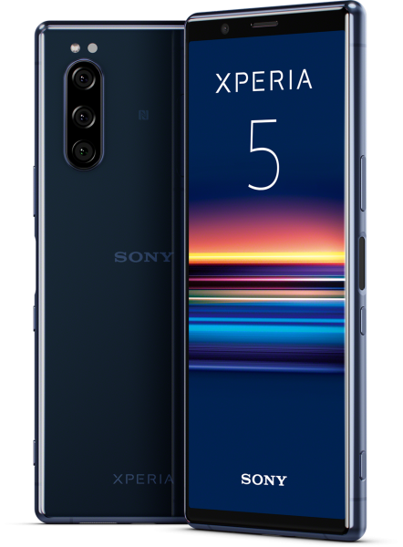 """Sony Xperia 5 DualSim blau 128GB LTE Android Smartphone 6,1"""" OLED 21:9 12 MPX"""