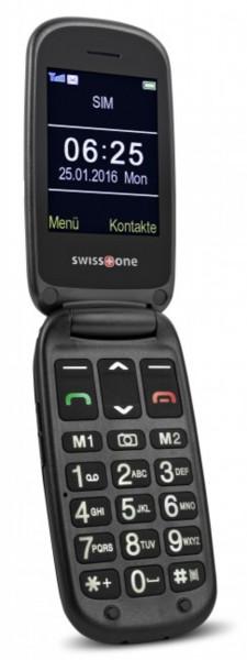 swisstone BBM 625 silber schwarz Klapptelefon 2,4 Zoll Farb Display Bluetooth