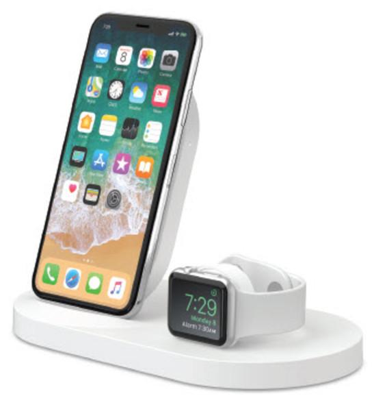 Belkin 7,5W Wireless Charging Dock iPhone & Apple Watch weiß