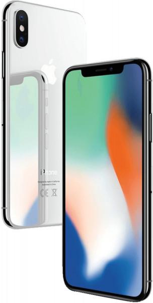 Apple iPhone X Silber 64GB REFURB