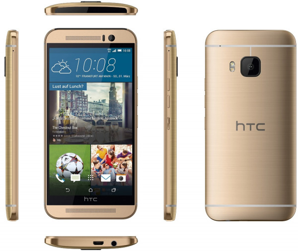 "HTC One M9 gold 32GB LTE Android Smartphone ohne Simlock 5"" Display 20 Megapixel"
