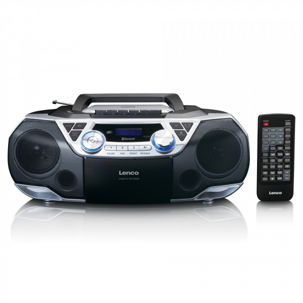 LENCO Boombox SCD-720SI Bluetooth DAB+ FM Radio MP3/CD-Player Kassette Recording