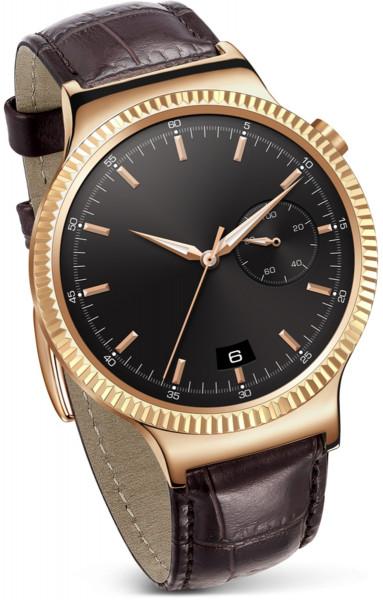 Huawei Smartwatch Elite Gold Uhr Edelstahl Android Lederarmband braun Tracker