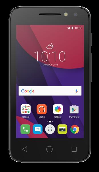 "ALCATEL PIXI 4034D schwarz Dual SIM Andriod Smartphone 4"" Display ohne Simlock"