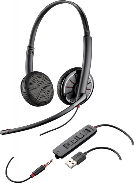 Plantronics Headset Blackwire C325.1-M binaural USB & 3,5 mm kabelgebunden
