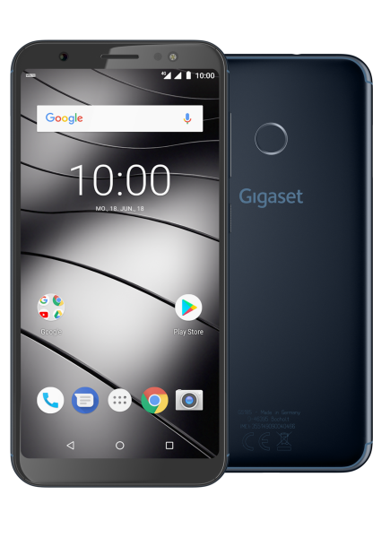 "Gigaset GS185 DualSim midnight Blau 16GB LTE Android Smartphone 5,5"" Display"