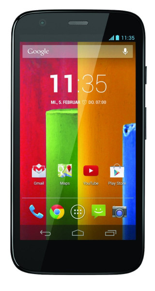 "Motorola Moto G schwarz 8GB Android Smartphone ohne Simlock 4,5"" Display 5 MPX"