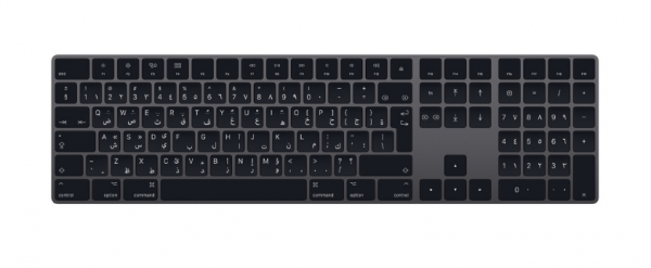 Apple Magic Keyboard MRMH2AB-A arabisch grau