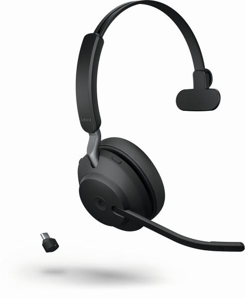 JABRA Evolve2 65 monaural MS USB-C Bluetooth black