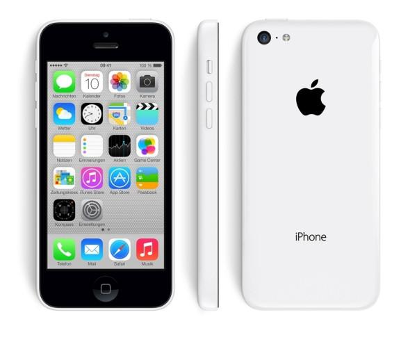 "Apple iPhone 5c weiß 8GB LTE iOS Smartphone ohne Simlock 4"" Display 8 Megapixel"