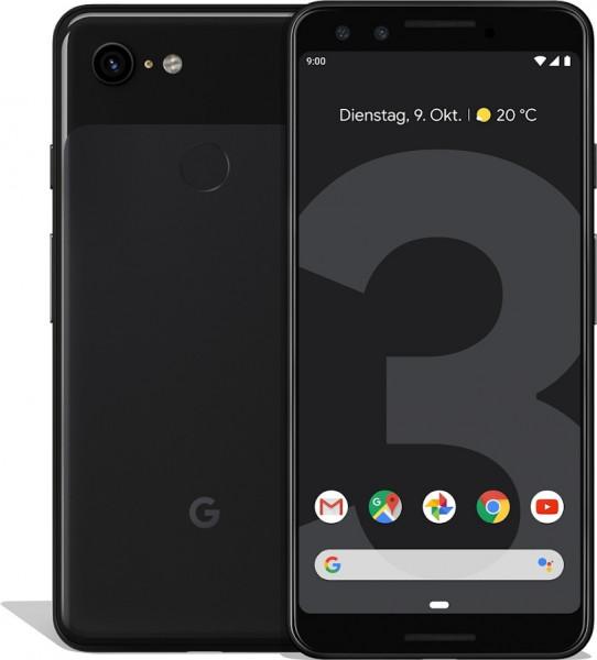 "Google Pixel 3 schwarz 64GB LTE Android Smartphone 5,5"" OLED 12,2 MPX eSim"