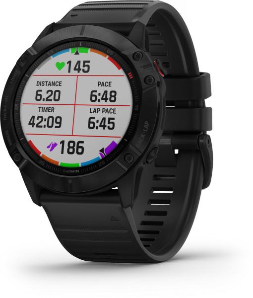 Garmin fenix 6X PRO Schwarz WiFi iOS Android Smartwatch Fitness Sleeping Tracker