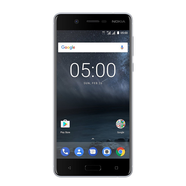 Nokia 5 silber 16GB Dual SIM LTE Android Smartphone ohne Simlock 5,2 Zoll 13MPX