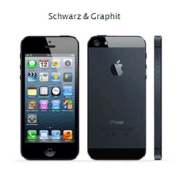 "Apple iPhone 5 64GB schwarz IOS Smartphone ohne Simlock 4"" Display 8 Megapixel"