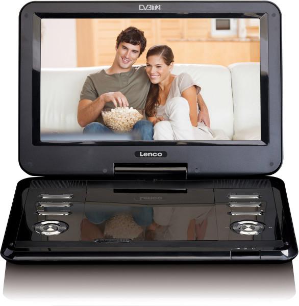 "Lenco TDVP-1273 11,6"" DVD-Player DVB-T2 USB SD Schwarz Neuwertig"