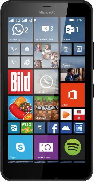 "Microsoft Lumia 640 XL Dual SIM schwarz 8GB Windows Smartphone ohne Simlock 5,7"""