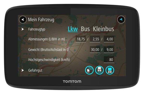 "TomTom GO Professional 520 TMC Navigationsgerät 5"" Display Europa Lifetime"