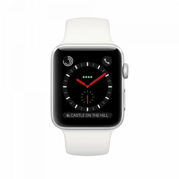 Apple Watch 3 silber Alu 42mm weiß 4G Bluetooth Multi Touch für Damen und Herren
