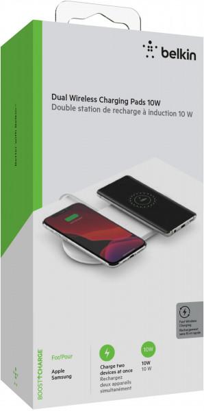 Belkin Doppel Wireless Charging Pad mit Netzteil 2x 10W Apple Samsung