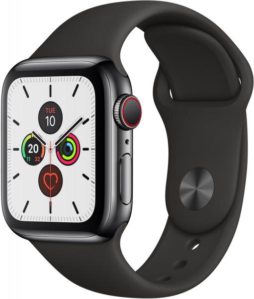 Apple Watch 5 space schwarz Steel 40mm schwarz 4G