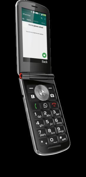 """emporia TOUCHsmart Schwarz 4GB LTE Senioren Klapphandy 3,4"""" Display 5 Megapixel"""