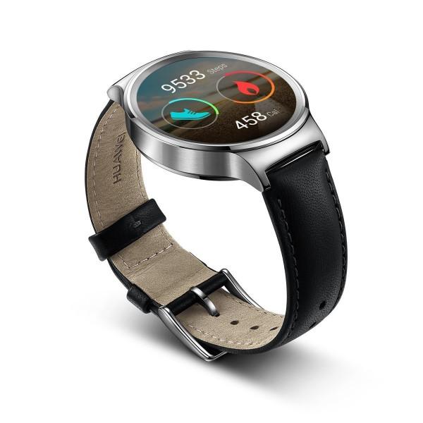 Huawei Watch Classic Edelstahl Lederband silber Fitnestracker Uhr Schlaftracker