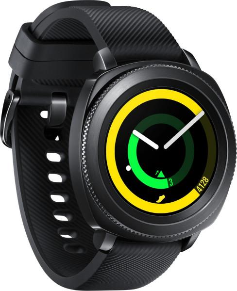 """Samsung Gear Sport schwarz 1,2"""" Android & iOS Smartwatch Herren wasserdicht"""