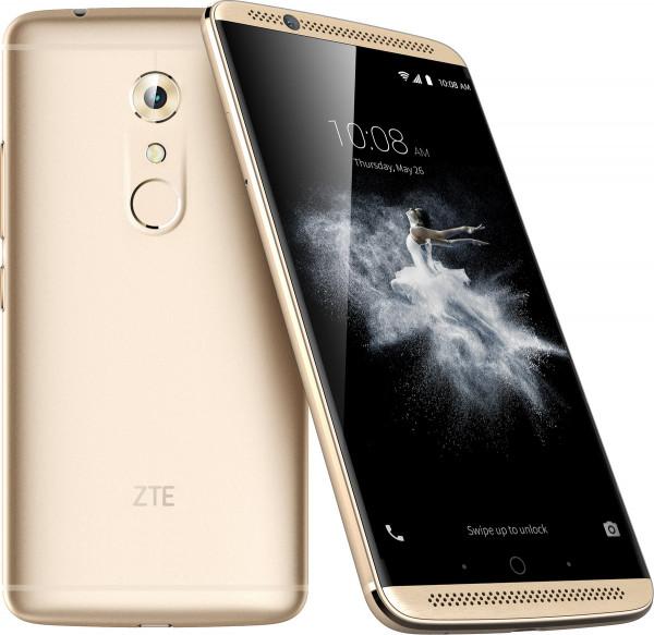 "ZTE Axon 7 Gold Dual SIM LTE Android Smartphone 5,5"" Display ohne Simlock 20 MPX"