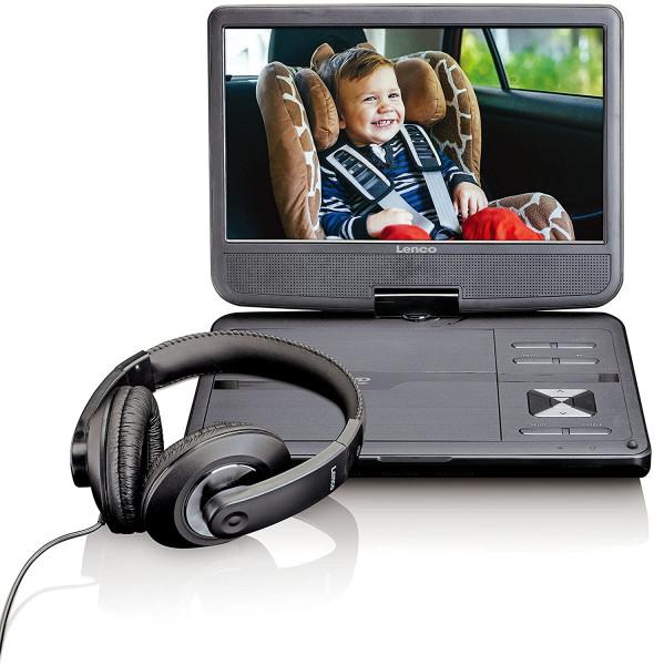 """Lenco DVP-1010 10"""" DVD-Player Kfz-Halter Kopfhörer"""