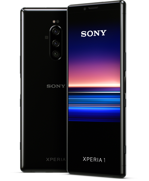 """Sony Xperia 1 DualSim schwarz 128GB LTE Android Smartphone 6,5"""" OLED 21:9 12 MPX"""