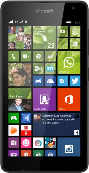 """Microsoft Lumia 535 schwarz 8GB Windows Smartphone ohne Simlock 5"""" Display 5 MPX"""