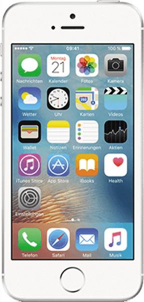 Apple iPhone SE 128GB Silber 4Zoll Display iOS LTE Smartphone ohne Simlock 12MPX
