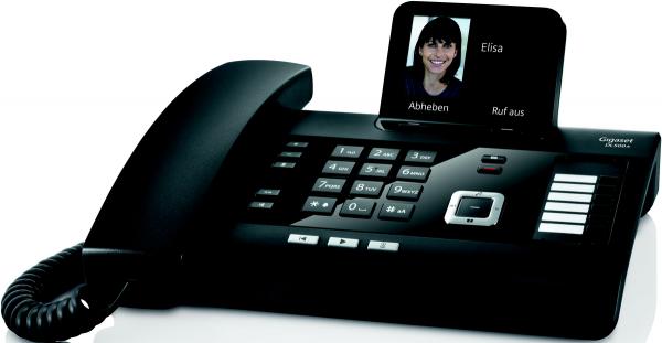 Gigaset DL500A Mobilteil C430HX schwarz Anrufbeantworter DECT schnurlos