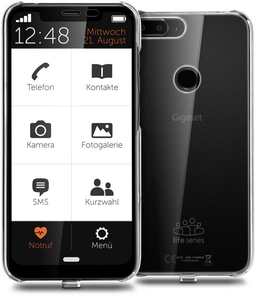 "Gigaset GS195 Life Series DualSim schwarz 32GB LTE Android Smartphone 6,2"" 13 MP"