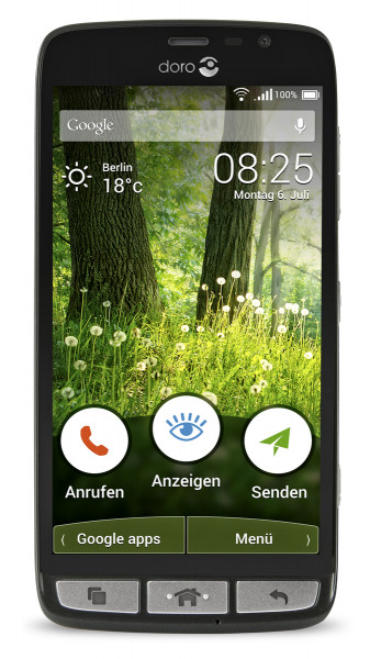 "Doro Liberto 825 schwarz LTE 5"" Touch Display 8GB Speicher Android 5.1"